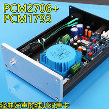 Finished HIFI PCM2706 + PCM1793 + AD827 USB DAC Sound card  For Audio HIFI DIY