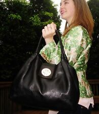 Kate Spade Black Smooth Buttery soft pebbled Leather Large Jessie Bexley Purse