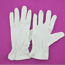 Lovely Spring And Autumn Men And Women's Cotton White GlovesEtiquette Gloves