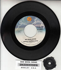 """CREEDENCE CLEARWATER REVIVAL  Bad Moon Rising CCR 7"""" 45 record + jukebox strip"""