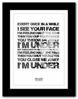 ❤ BIFFY CLYRO Justboy ❤ song words typography poster art  print - A1 A2 A3 or A4