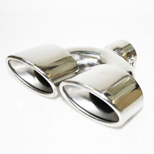 Twin Chrome Double Exhaust Universal Pipe Sport Muffler Trim Pipe Tail Tip