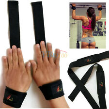 Weight Lifting Training Gym Wrist Support Gloves Wrap Bandage Hand Bar Straps