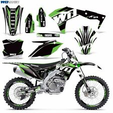 Graphic Kit Kawasaki KX250F Dirt Bike KX 250f 250 MX w/Backgrounds NEW 2017 WD