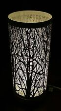 Vintage look~White tree scene touch pad table lamp-NEW