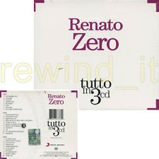 "RENATO ZERO ""TUTTO IN 3 CD"" RARO BOX 3 CD - SIGILLATO"