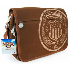 "Bioshock Infinite Columbia Customs Canvas Messenger Bag - 2"" Wide Adj Strap NEW"