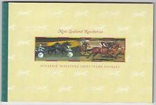 N.  Neuseeland 1475 - 80  Markenheftchen  Rennpferde  **  (mnh)