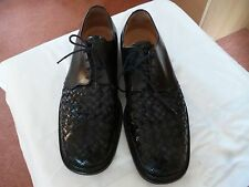 mens, black leather formal shoes from bally, size 10