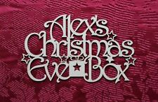 MDF Wooden Personalised Christmas Eve Box Topper Wedding gift decoration