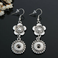 NEW 12MM silver color Drill Earrings Fit For Noosa Charm Snap Button N23