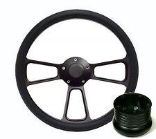Hot Rod Street Rod Rat Rod Truck Black PBK Billet Steering Wheel, Horn & Adapter