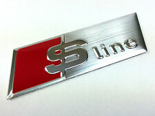 Oz Stock - Audi S Line Chrome Steering Wheel Badge Emblem Logo Decal A4 A5 A6 Q7