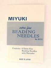 MIYUKI 6 Extra Fine Beading Needles with Threader