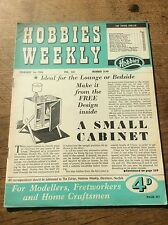 1955 Hobbies Weekly Magazine 1950s Design to make Retro Lounge Bedside Cabinet