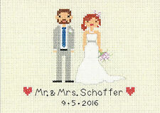 Cross Stitch Mini Kit ~ Dimensions Bride and Groom Wedding Record #70-65160