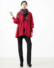 NWT Eileen Fisher GARNET Lightweight Boiled Merino Wool Enveloped Coat S $298