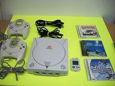 Sega Dreamcast Console Bundle Lot - with 3 Games!
