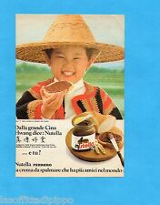 TOP987-PUBBLICITA'/ADVERTISING-1987- FERRERO - NUTELLA