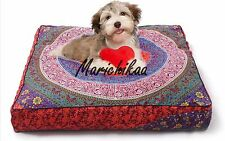 Mandala Floor Cushion Cover Boho Decorative Pillow Cover Dog Bed 95 x 95 Cm's