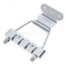 Short Great Chrome Tailpiece Archtop for Jazz Bass Guitar Parts Open Frame