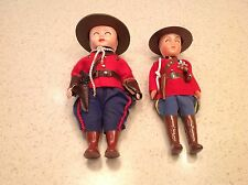Rogark Figure or Figures Doll Canadian Royal Mounted Tag Hats Gun Set of Two