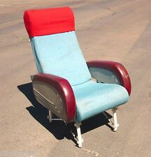 AIRLINE SEAT - VINTAGE Lockheed TWA - Original Red Blue Classic Collector Gift