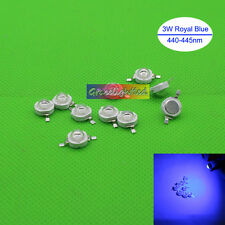 100pcs 3W 3Watt Royal Blue 440-455nm 700mA 3.2-3.6V LED High Power lamp chip