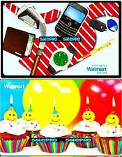 2x WALMART 5TH BIRTHDAY CUP CAKE 2012 FATHER'S DAY COLLECTIBLE GIFT CARD LOT