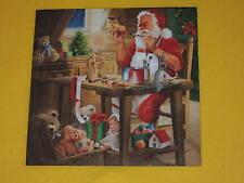 5 stück Servietten SANTAS WORKSHOP Weihnachtsmann 1/4 Weihnachten Spielzeug Tedd