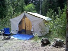 NEW!!! 12x9x5ft Canvas Wall Tent w/Poles and Floor