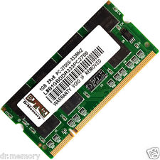Mémoire Ram 1 Go 1x1Go Ddr-333 Pc2700 Non-ecc CL2.5 200 Broches (sodimm)