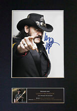 LEMMY Motorhead Signed Mounted Autograph Photo Print (A4) No480