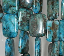 25X18MM BLUE LAGOON PYRITE INCLUSIONS QUARTZ GEMSTONE RECTANGLE LOOSE BEADS 15""