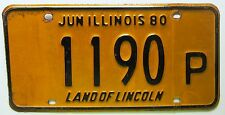 Illinois 1980 TRUCK License Plate NICE QUALITY # 1190 P