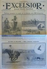AVIATION VEDRINES RECORD DISTANCE / POLO DEAUVILLE FAUCONNERIE  EXCELSIOR 1911