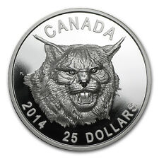 2014 Canada 1 oz Silver $25 The Fierce Canadian Lynx (UHR) - SKU #85912