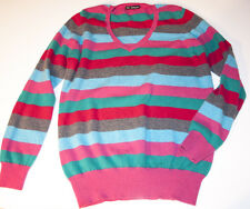 M&S Autograph colourful Size 16 striped 100% cashmere jumper in VGC
