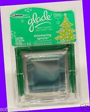Glade Decor Scents SHIMMERING SPRUCE Glass Holder + Refill BALSAM FIR & JUNIPER
