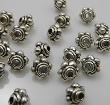 Free Shipping 80Pcs Tibetan Silver Spacer Beads For Jewelry 4.5x4mm