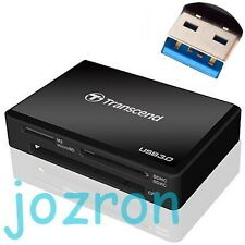 Transcend F8 USB 3.0 Multi Card Reader CF SDHC SDXC SD TF Micro M2 MS RDF8 Black
