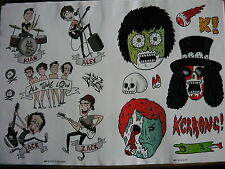 ALL TIME LOW - KERRANG! STICKERS SHEET (REF S)