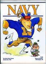 Oct 30 1993 Navy vs Notre Dame Football Program Veterans Stadium