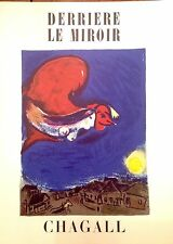 Marc Chagall 2 Authentic Color Lithographs DLM 27-28 Mar-Apr 1950 Maeght Edt