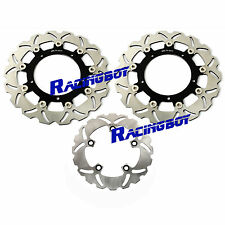 Hi Performance Full Set Front Rear Brake Disc Rotor For Yamaha YZF R6 2003 2004