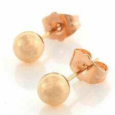 Classic 18K Yellow Gold Filled Ball Womens Fashion Gold Stud Earrings Jewelry