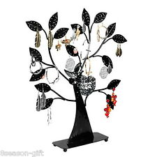 1PC Black Earring Tree Bird Nest Jewelry Display Stand Holder
