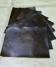 Brown Vintage Aged Leather 16cm x 11cm offcuts You get 8 pieces 1.5mm thick