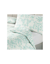 George Cotton Rich Percale Heirloom Damask SINGLE Duvet Cover + 1 Pillowcase