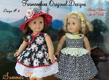 SEWING PATTERN for American Girl Doll by Farmcookies /Summer Fun!